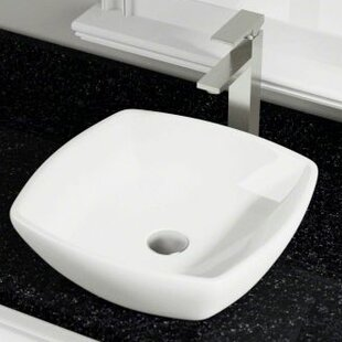 Shop For Vitreous China Square Vessel Bathroom Sink ByPolaris Sinks