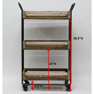 Malcom Metal Bar Cart By Gracie Oaks
