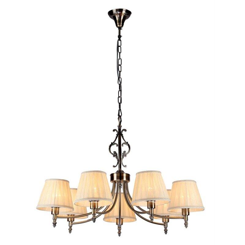 maytoni chandeliers kronleuchter 7 flammig elegant. Black Bedroom Furniture Sets. Home Design Ideas
