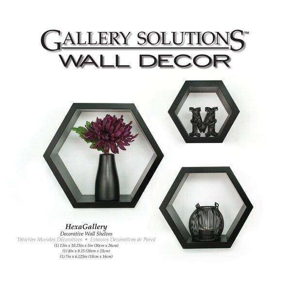 Ebern Designs Gilboa 3 Piece Hexagallery Wall Decor Set Reviews Wayfair