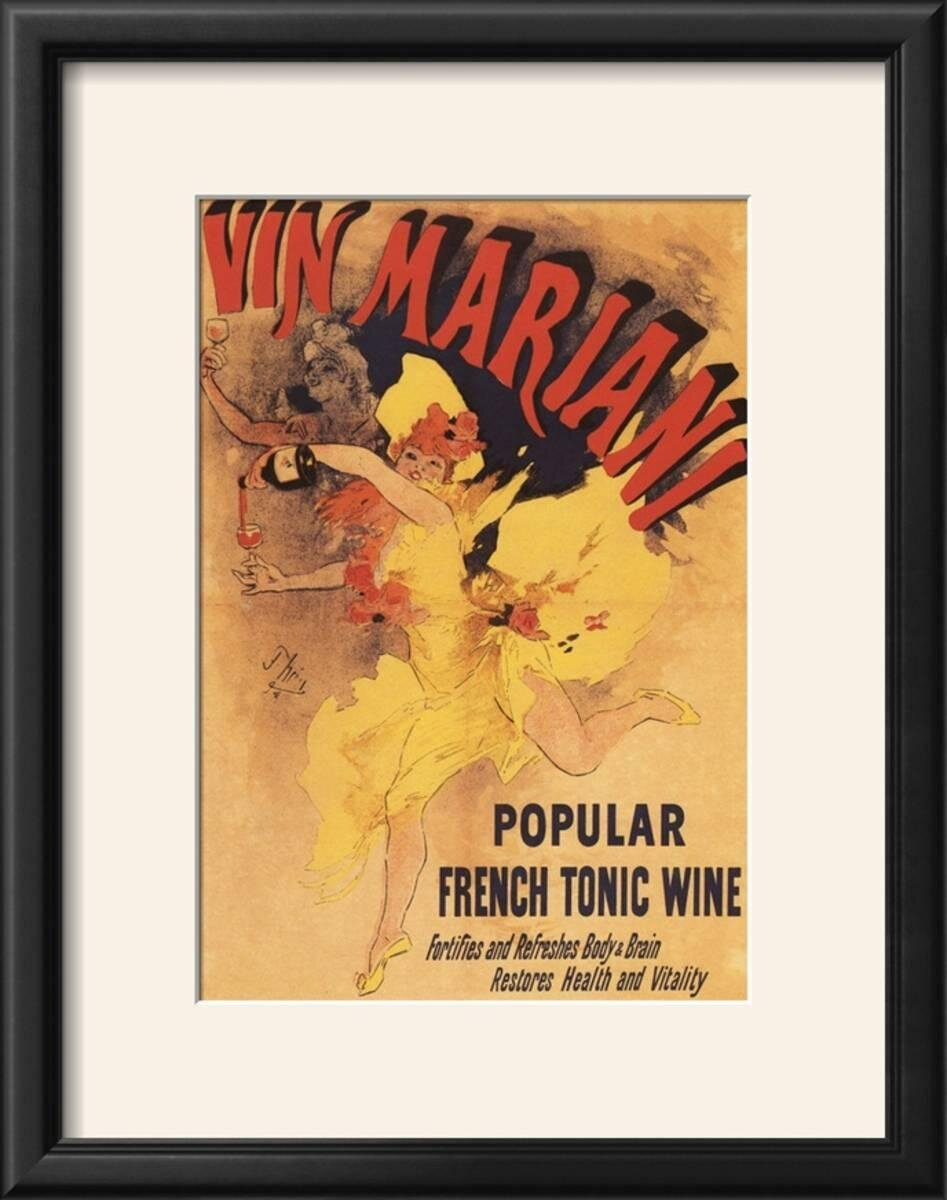 Winston Porter \'Paris, France - Vin Mariani Dancing Girl Pouring ...