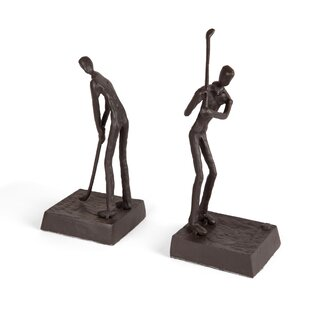 Lance Golfers Iron Home And Office Décor Bookends (Set Of 2)