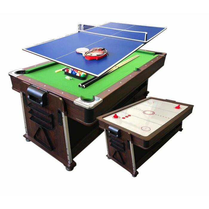Superieur 7u0027 Multi Game Convertible Pool Table