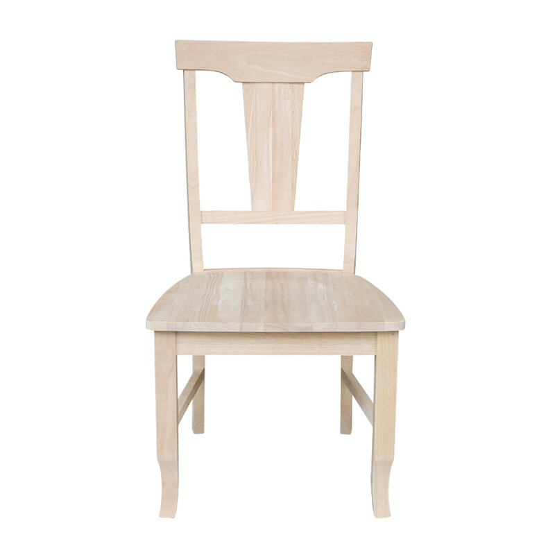 August Grove Toby Solid Wood Slat Back Side Chair In Unfinished Reviews Wayfair
