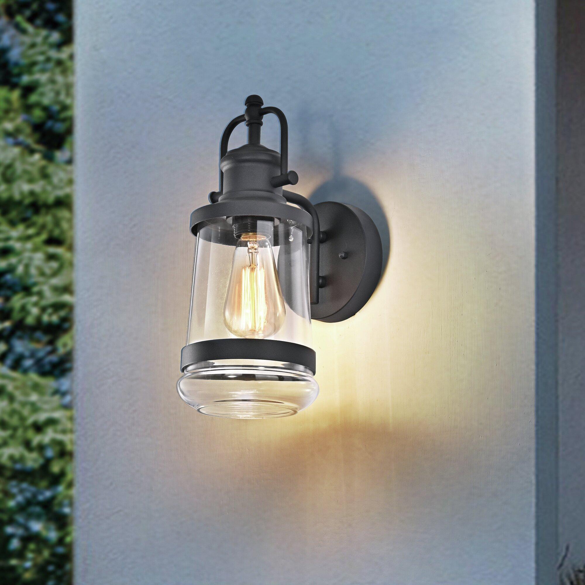 Breakwater Bay Bigham Farmhouse Outdoor Wall Lantern Reviews Wayfair
