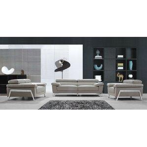 modern leather living room set. Corelle 3 Piece Leather Living Room Set Modern Sets  AllModern