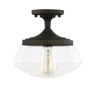 Brecken 1-Light Semi Flush Mount by Andover Mills