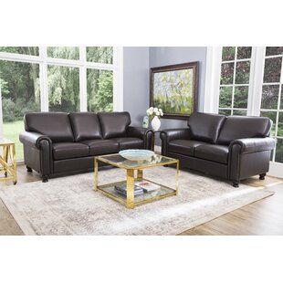 Bella Vista 2 Piece Leather Living Room Set by Three Posts