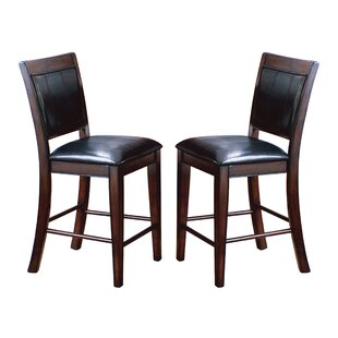 Fulton Counter Height Upholstered Dining Chair (Set of 2) by Crown Mark
