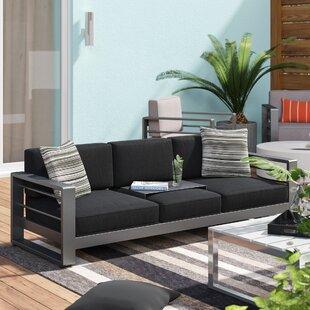 Royalston Patio Sofa With Cushions By Brayden Studio