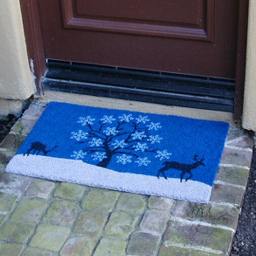 Sky Winter Door mat