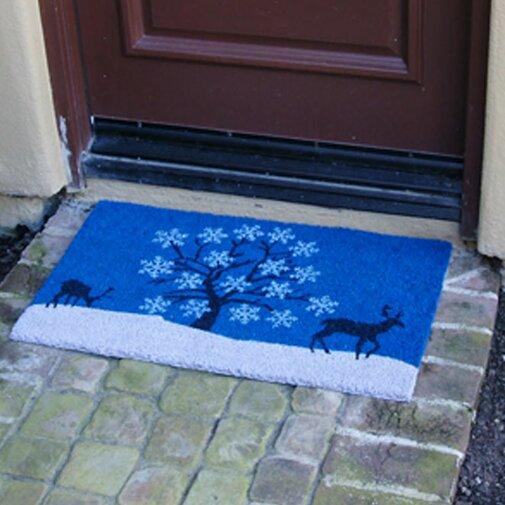 Sky Winter Door mat