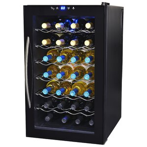 28 Bottle Single Zone Freestanding Wine Cooler by NewAir