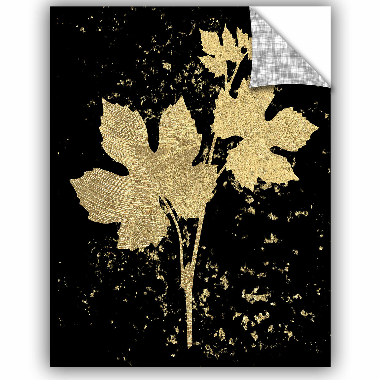 Bloomsbury Market Addison Gold Splatter Leaf Removable Wall Decal ...