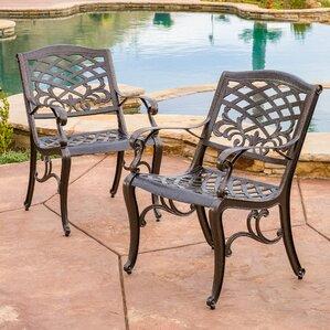 jeannine cast aluminum outdoor chair set of 2