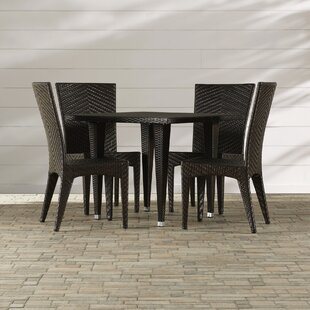 Morphis 5 Piece Outdoor Dining Set by Mercury Row