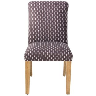 Gracie Oaks Romy Rolled Floral Back Upholstered Dining Chair