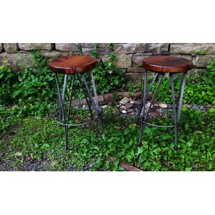 Vintage Ice Cream Parlour Bar Stool  Chair Height Set of 4 by The Strong Oaks Woodshop