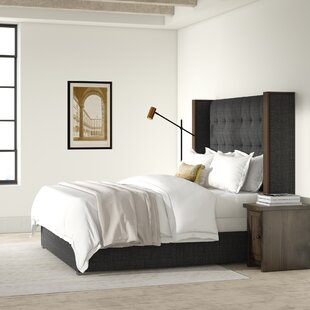 Hank High Height Upholstered Panel Bed by Brayden Studio
