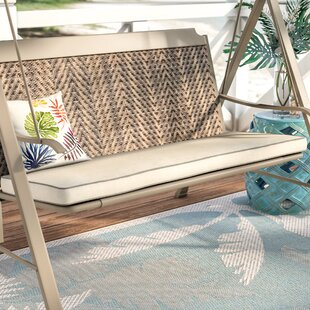 Beachcrest Home Piped Indoor/Outdoor Sunbrella Bench Cushion
