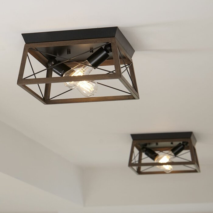 Delon Geometric Flush Mount