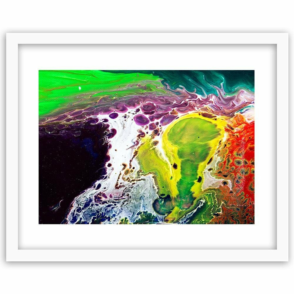 17 Stories Rainbow Abstraction Picture Frame Graphic Art Print On Paper Wayfair Co Uk