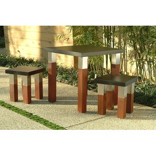 Kenji 3 Piece Dining Set by Modern Outdoor