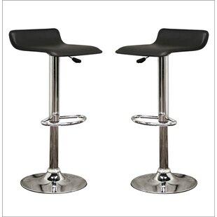 Ebern Designs Spicer Adjustable Height Swivel Bar Stool (Set of 2)