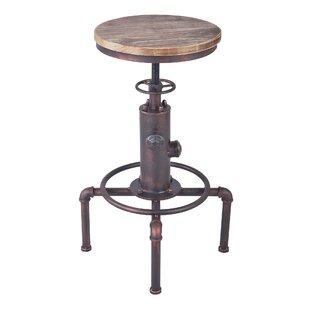 Williston Forge Goldstein Adjustable Height Bar Stool