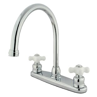 Kingston Brass Pull Down Double Handle Kitchen Faucet