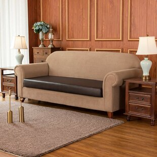 PU Leather Waterproof Box Cushion Sofa Slipcover By Ebern Designs