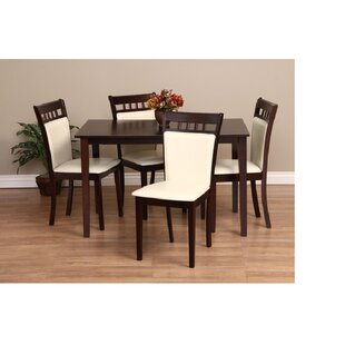 Shirlyn 5 Piece Solid Wood Dining Set Warehouse of Tiffany