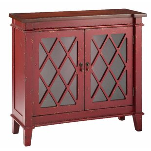 Goshen Cabinet With Glass Doors Accent Cabinet by Stein World