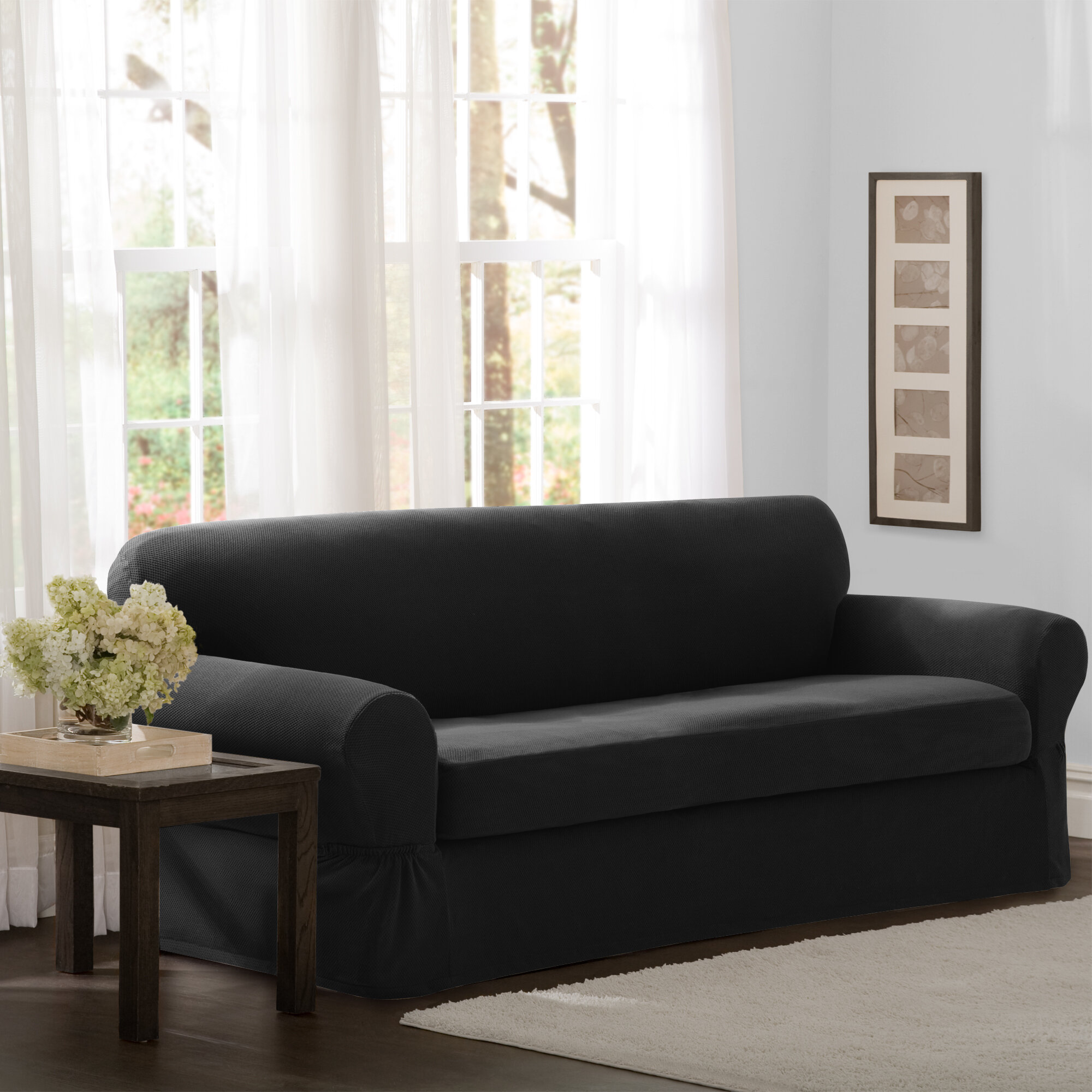 Black Sofa Slipcovers Couches You Ll Love In 2021 Wayfair
