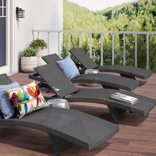 Rebello Reclining Chaise Lounge (Set of 4) by Sol 72 Outdoor