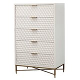Carranza Honeycomb 5 Drawers Lingerie Chest by Everly Quinn