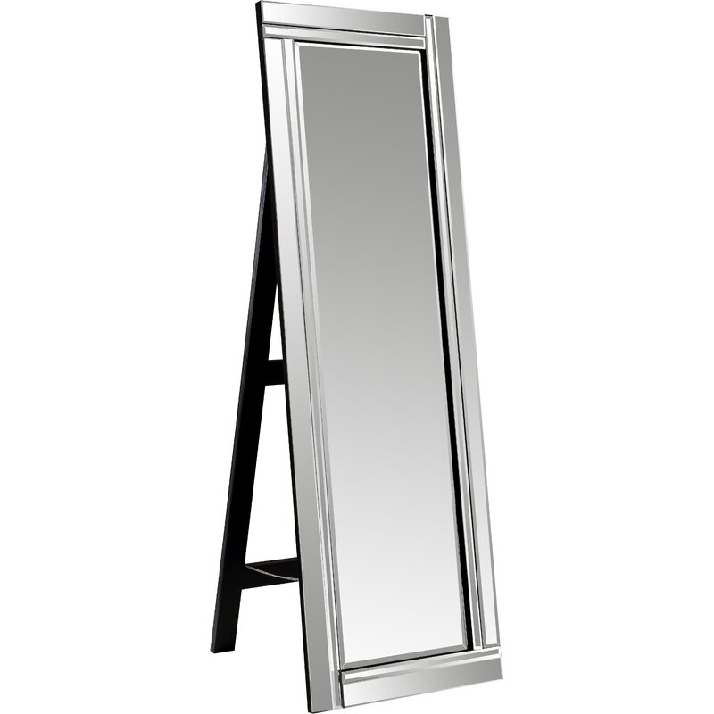 Wade Logan Modern And Contemporary Beveled Full Length Mirror Reviews Wayfair