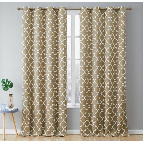 Tan Lattice Curtains