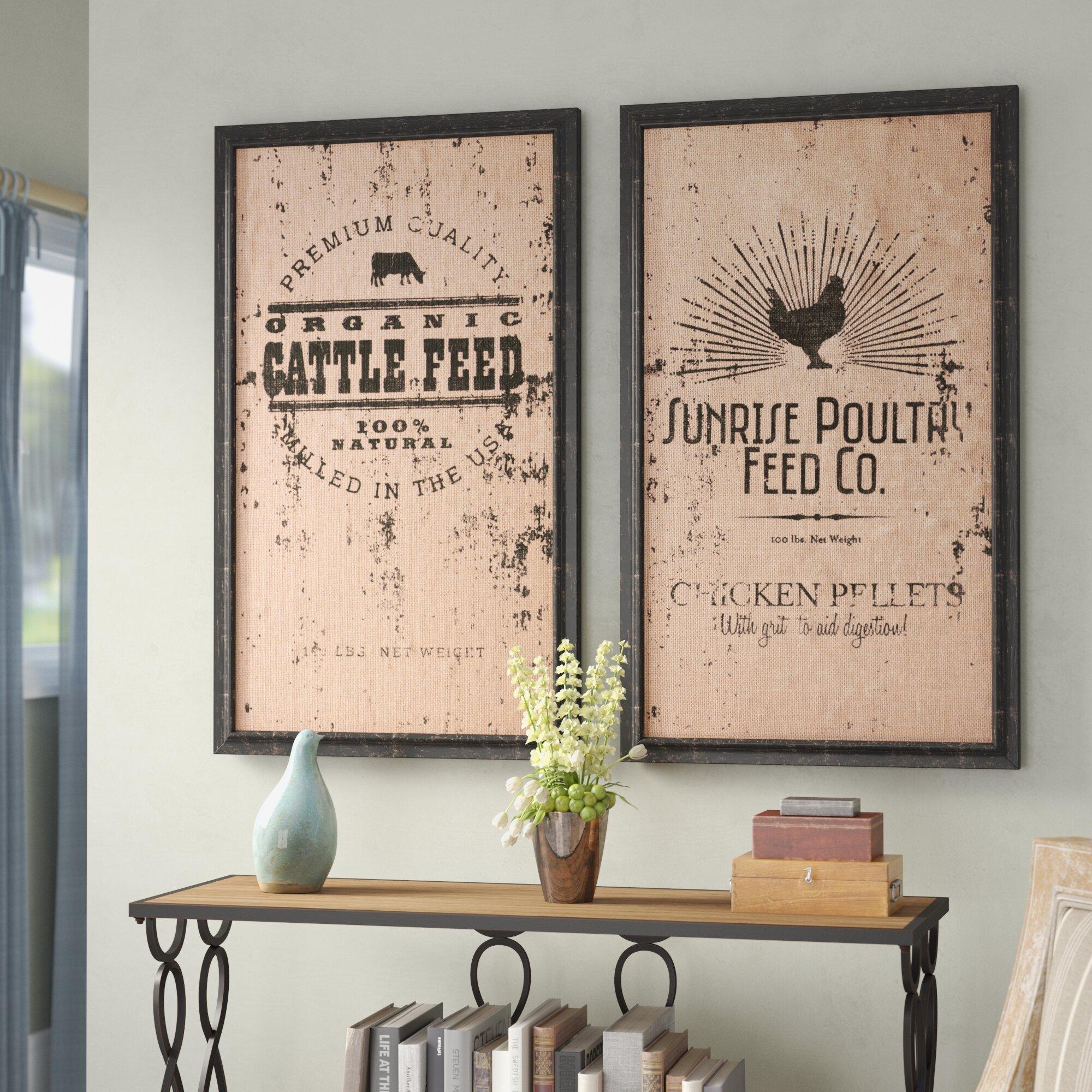 Laurel Foundry Modern Farmhouse 2 Piece Wall Decor Set Reviews Wayfair