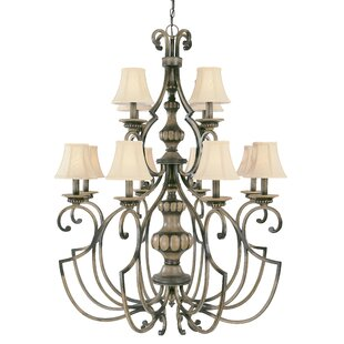 Classic Lighting Westchester 12-Light Shaded Chandelier