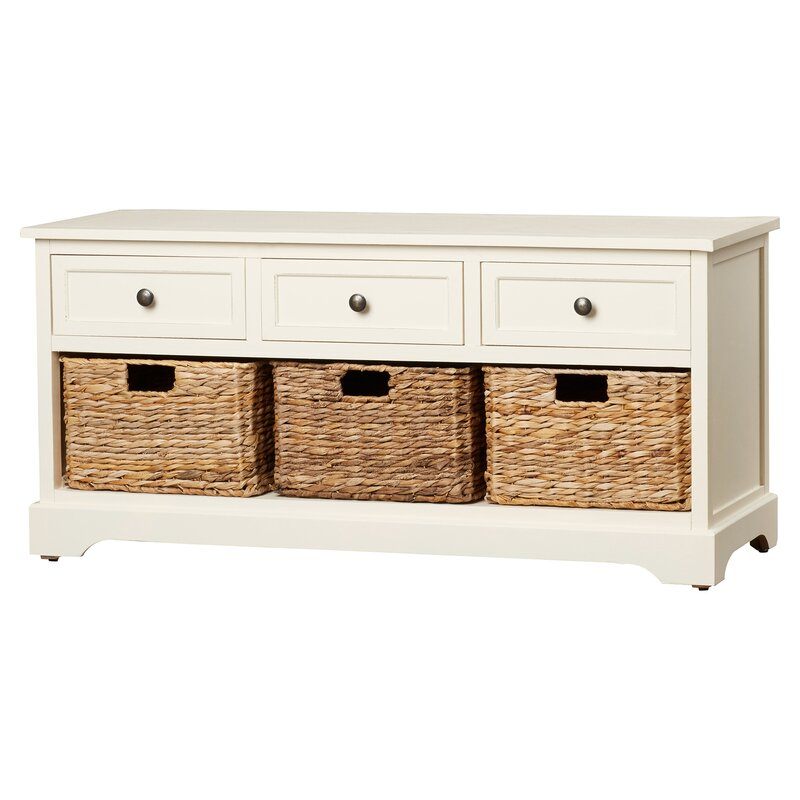Ardina Wood Storage Entryway Bench