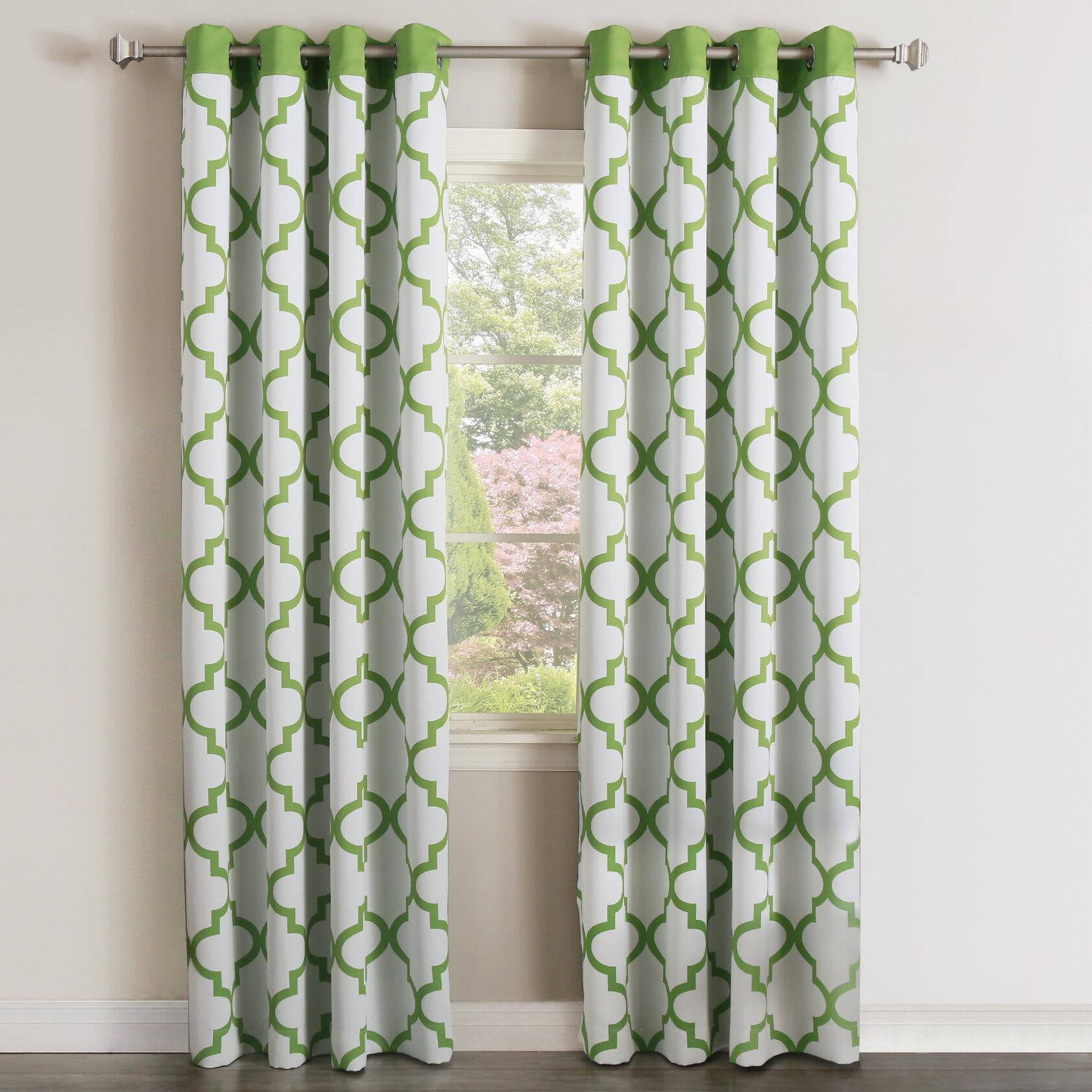 Andrews Geometric Room Darkening Grommet Curtain Panels Reviews Allmodern