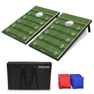 GoSports 10 Piece Football Cornhole Board Set