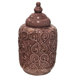 Cement Lidded Storage Jar