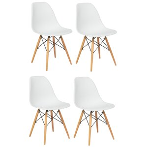 Dejohn Solid Wood Dining Chair (Set of 4) by Mercury Row