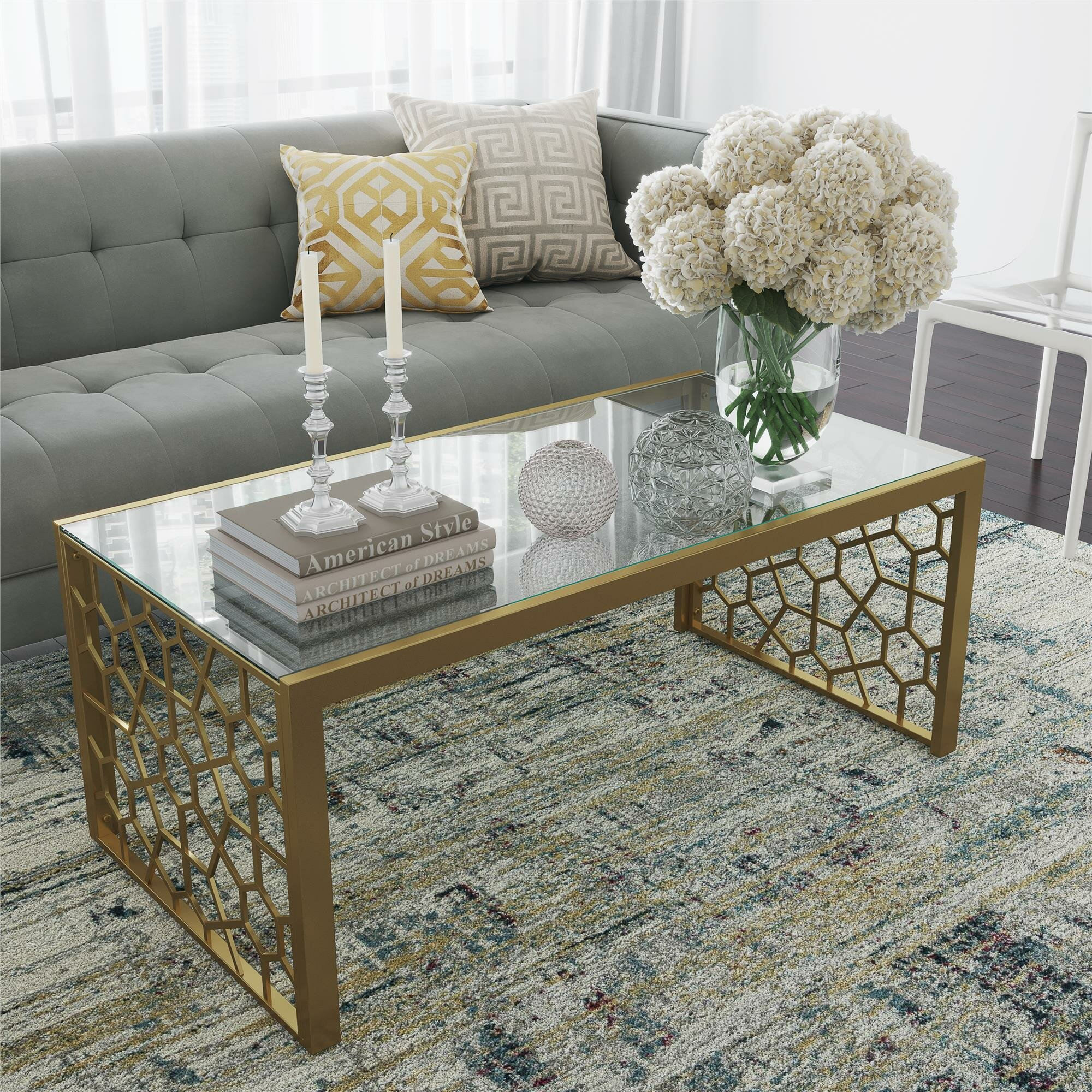 Glam Glass Coffee Tables Glitters You Ll Love In 2021 Wayfair [ 2000 x 2000 Pixel ]
