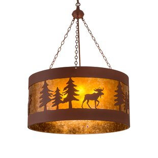 Meyda Tiffany Moose on the Loose 4-Light Pendant