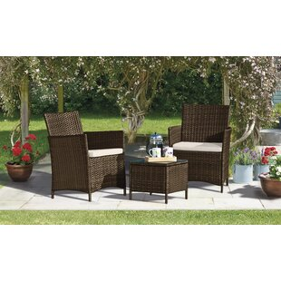 Reinold 2 Seater Rattan Effect Conversation Set Image