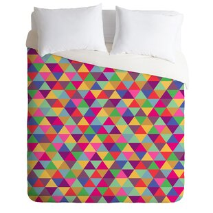 in Love With Triangles Duvet Cover Set by East Urban Home