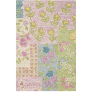 Kids Hand Tufted Pink Green Area Rug By Safavieh